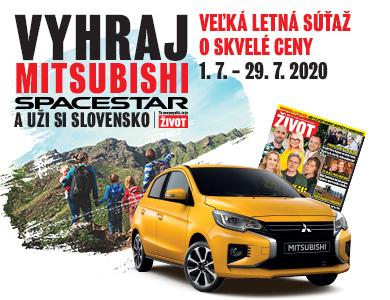 Hrajte s týždenníkom ŽIVOT vo Veľkej letnej súťaži<br />o nový Mitsubishi Space Star!